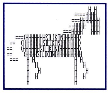 "The ""Silikoni Horse,"" mascot of the Silikoni radio program."
