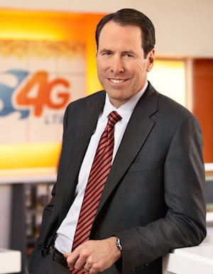 AT&T CEO Randall Stephenson, smiling as he ponders new ways to delight his customers.