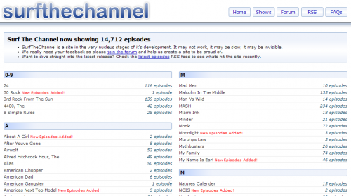 A surfthechannel.com screenshot.