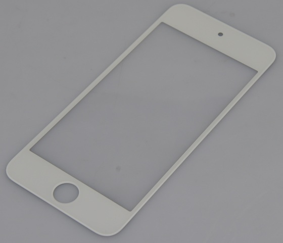 An alleged next-gen iPhone faceplate, showing a taller, 16:9 opening for the display.