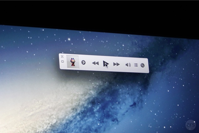 The iTunes mini player.