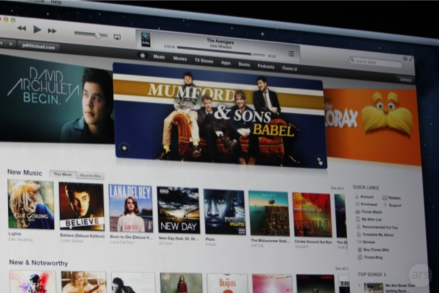 Showcasing Mumford & Sons in the iTunes library.
