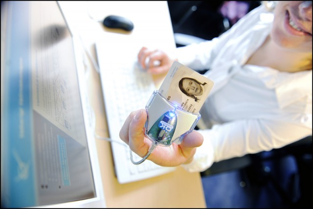 All Estonians can vote online using their digital ID card.