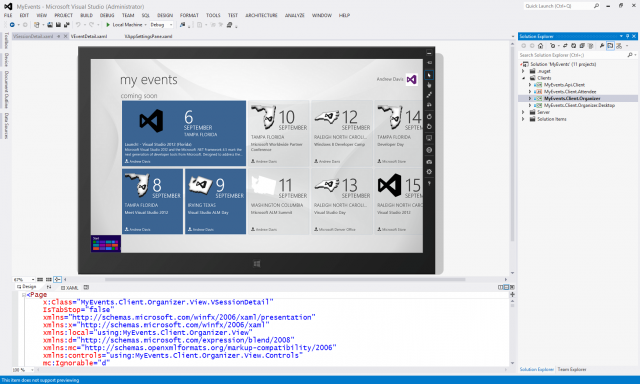 Visual Studio 2012 is the only way to develop Windows 8 applications.