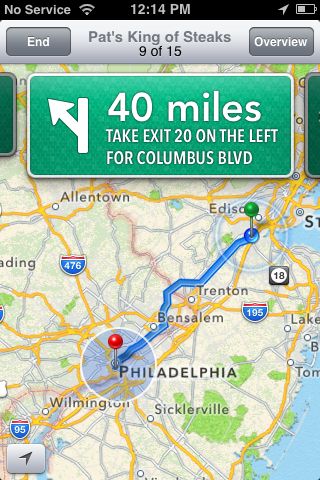 The iPhone 3GS gets the new Maps app, but without the turn-by-turn navigation feature.