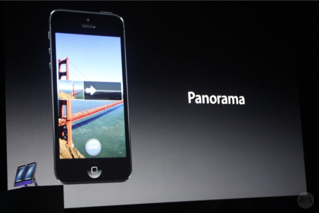 Apple SVP Phil Schiller discussed the new Panorama feature in iOS 6 at a special media event.