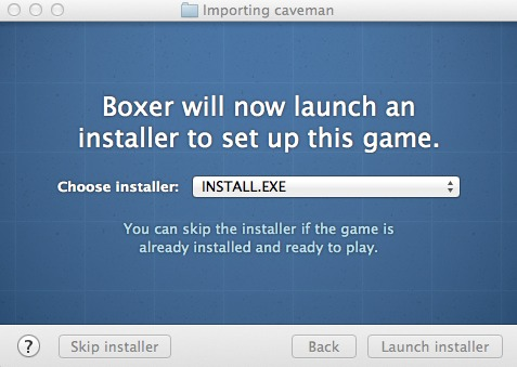 Picking the installer.