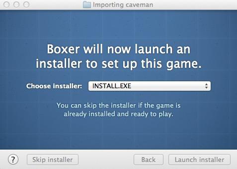Picking the installer.