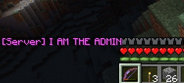 Chat text entered into the console appears to other players in letters of fiery...uh, purple