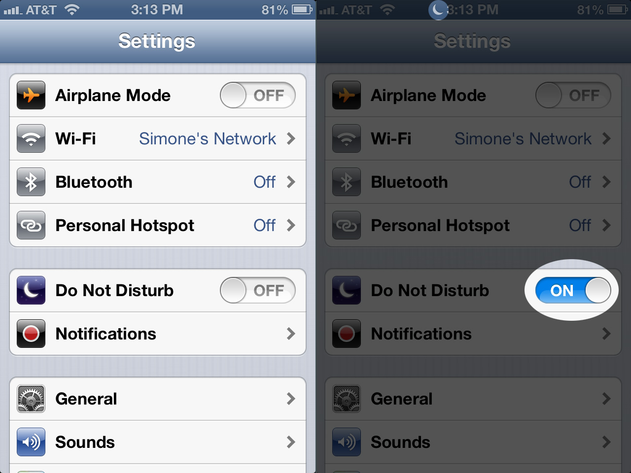"You can switch ""Do Not Disturb"" on in the Settings app on iOS 6."