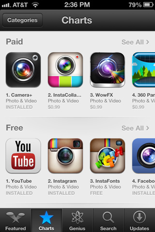 You can still see the top paid, top free, and top grossing apps in any category.