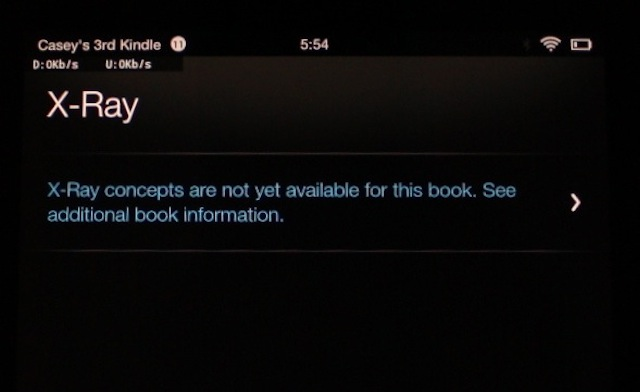 We expect this message will pop on X-Ray for books more often than not.