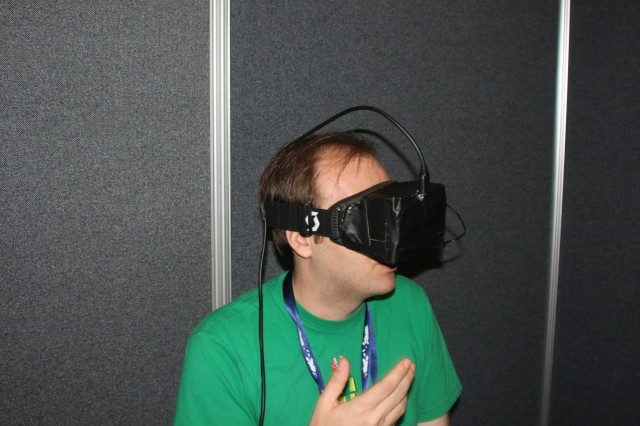 Hey, why can't I see my hand? It should be right there in front of me. Oh, right... the headset...