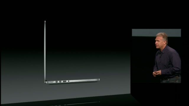 "The 13"" Retina MacBook Pro includes two Thunderbolt ports, up from one in the non-Retina model."