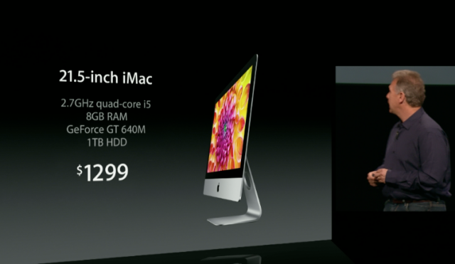 The 21.5-inch iMac standard features and price.