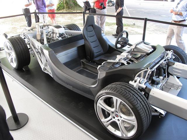 The McLaren 12C's carbon fiber tub.
