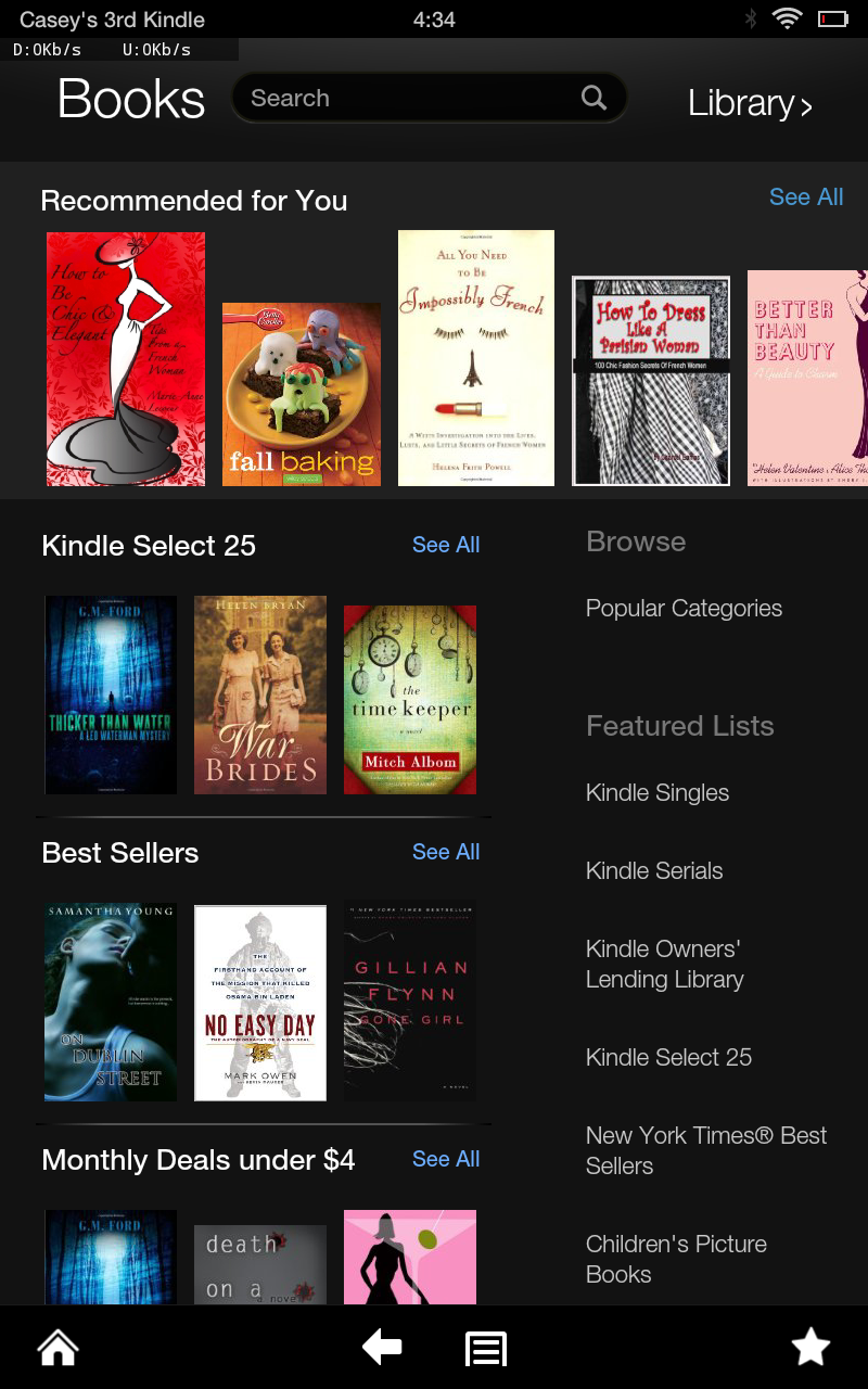 If shopping experiences matter to you, the store in the Kindle Fire is way more welcoming than the one in the Kindle Paperwhite.