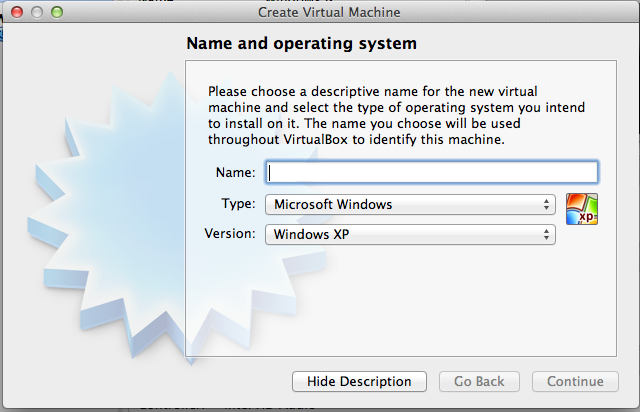 The VirtualBox setup wizard gets the job done, but is considerably more Spartan.