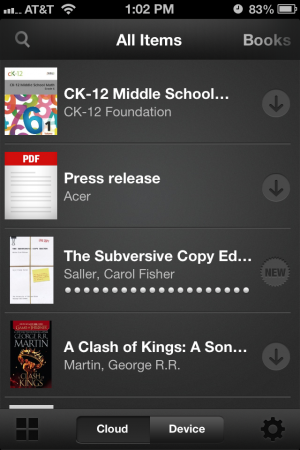 The content I distributed is showing up right next to the rest of my Kindle books in the Kindle for iOS app.