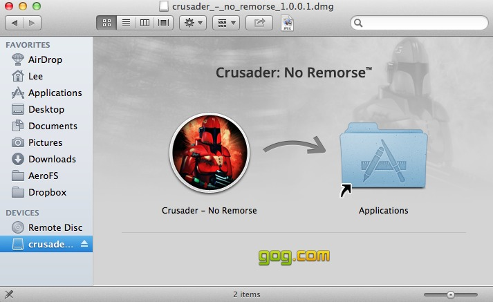 A familiar sight for OS X users.