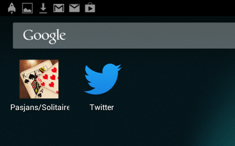 Application icons can be placed on your device's home screen.