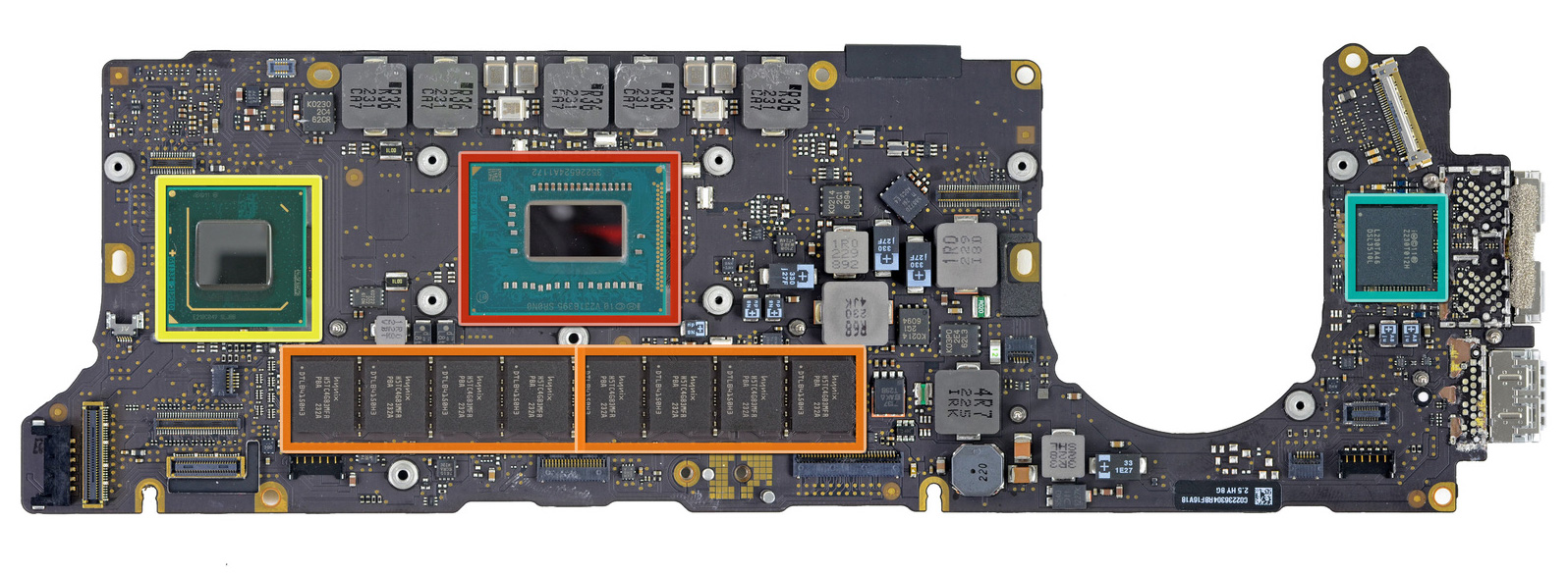 The 13-inch Retina MacBook Pro apparently has no room for a discrete GPU or more than 8GB of RAM.