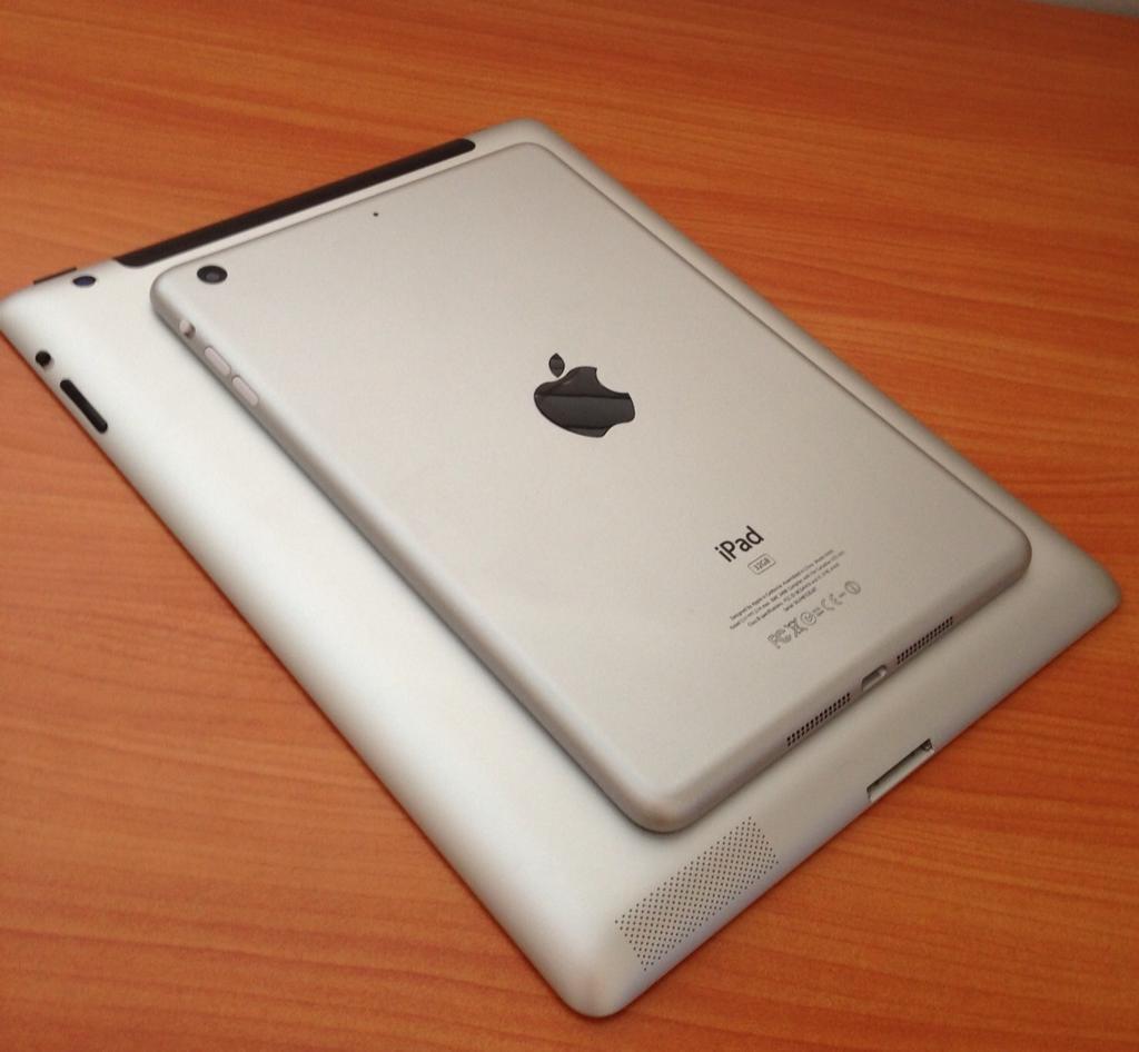 A purported iPad mini prototype photo leaked via Twitter.