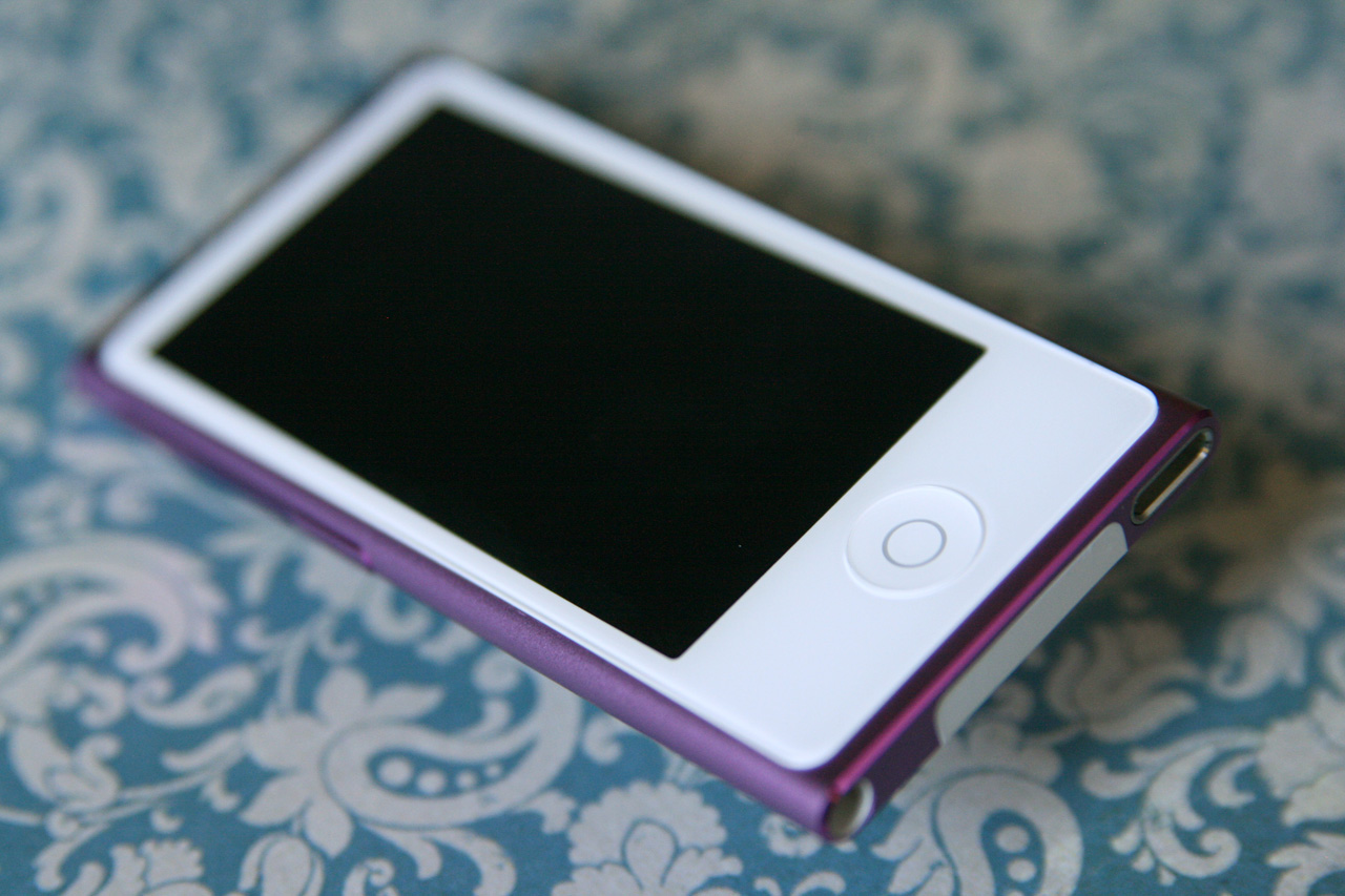 "The iPod nano now has a ""home"" button."