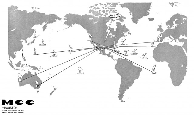 Locations of all the MSFN stations during Project Apollo.