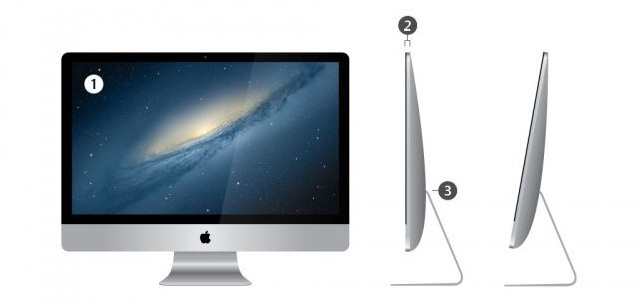 An artist's rendering of a possible thinner iMac case redesign.