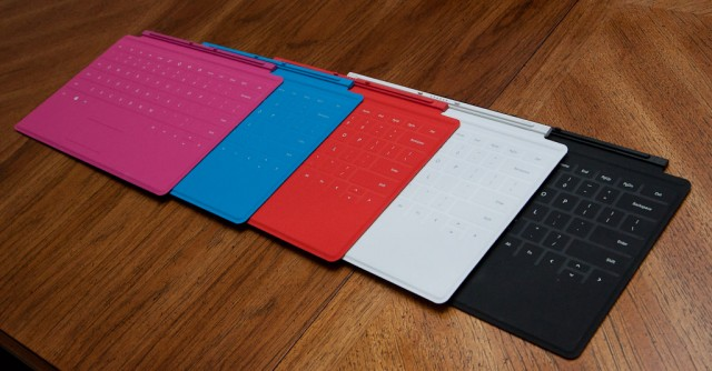 The range of Touch Cover colors.