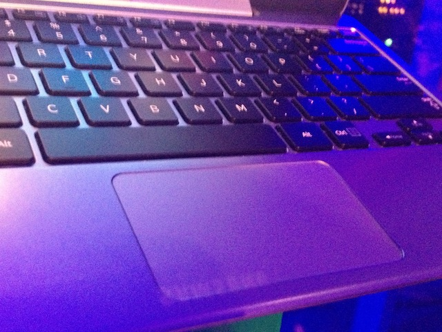 The keyboard on the 500T and 700T keyboard docks seem full size, but the trackpads are compromised a bit.