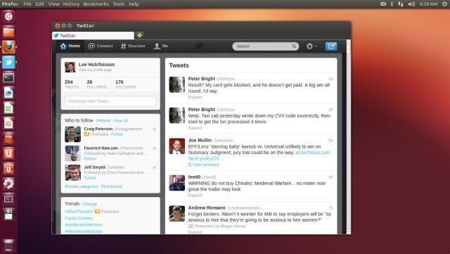 Twitter as a Unity Web app.