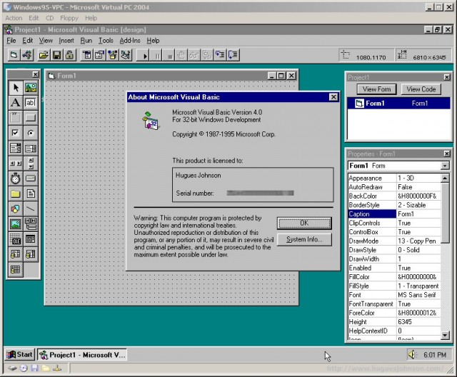 Released in August 1995, Visual Basic 4.0 was the first version capable of creating 32-bit Windows programs.