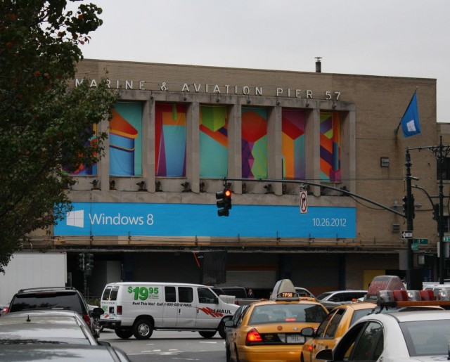 Windows 8 takes over Pier 57.