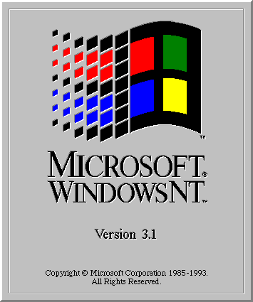 Windows NT 3.1 arrived on the scene in July 1993.