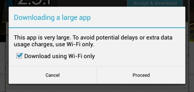It will also offer to download apps exclusively over Wi-Fi to save cellular bandwidth.