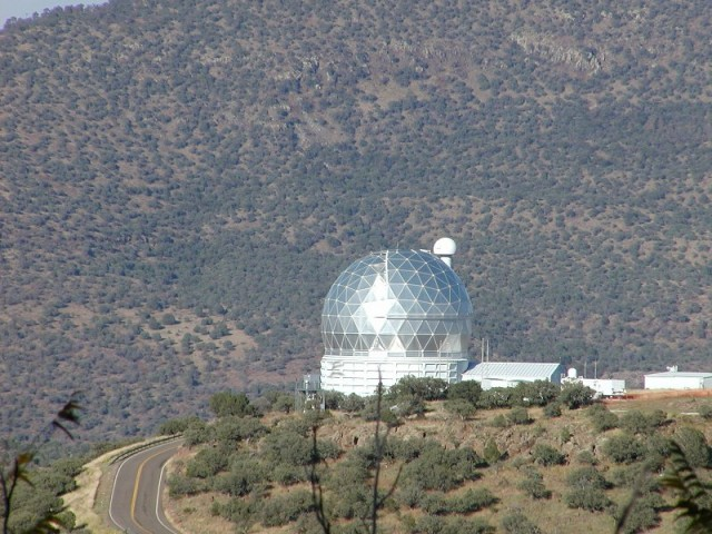 The Hobby-Eberly Telescope in Texas.