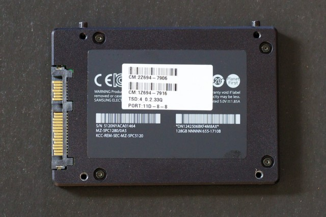 The mini's SSD, a SATA III Samsung 830-based OEM model.