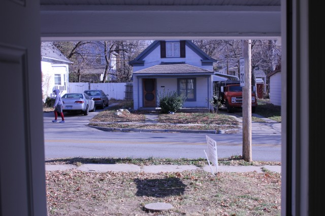 The house directly across the street, in Kansas City, Missouri, won't get Google fiber until late next year.