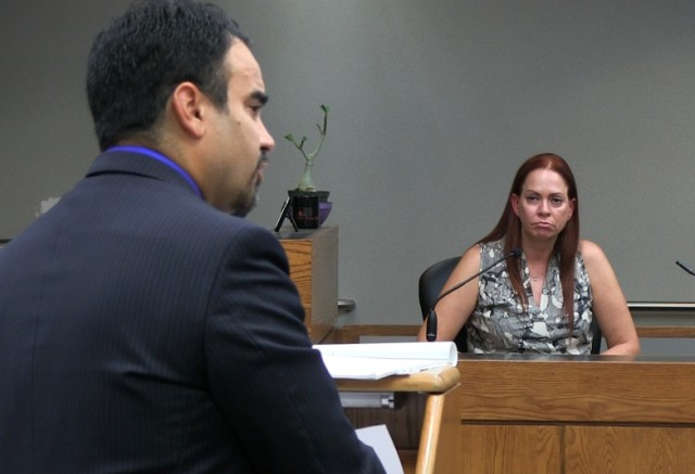 Perez is cross-examined by Miller attorney Arnold Trevilla.