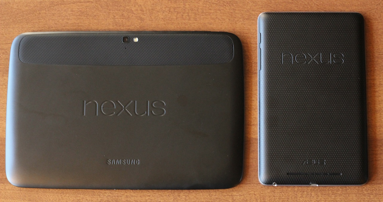 The two Nexus tablets are obviously related, even though they come from different manufacturers.