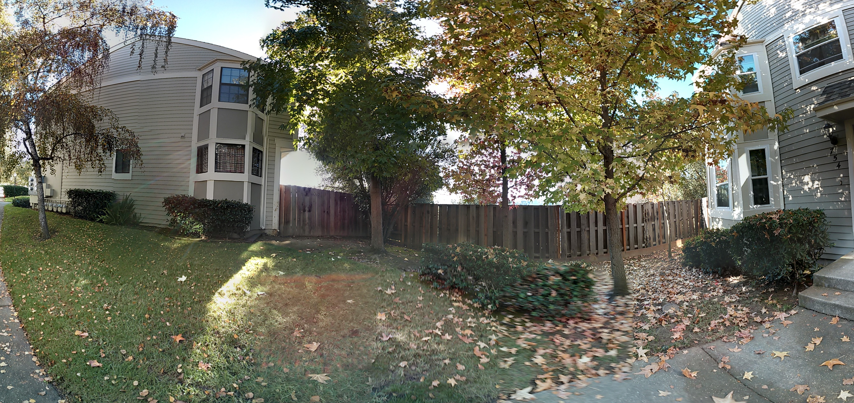 Google's Photo Sphere flattens out the photos into a panorama.