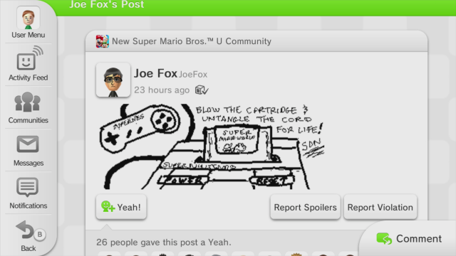 Just one of many great bits of hand drawn fan art already filling up Miiverse.