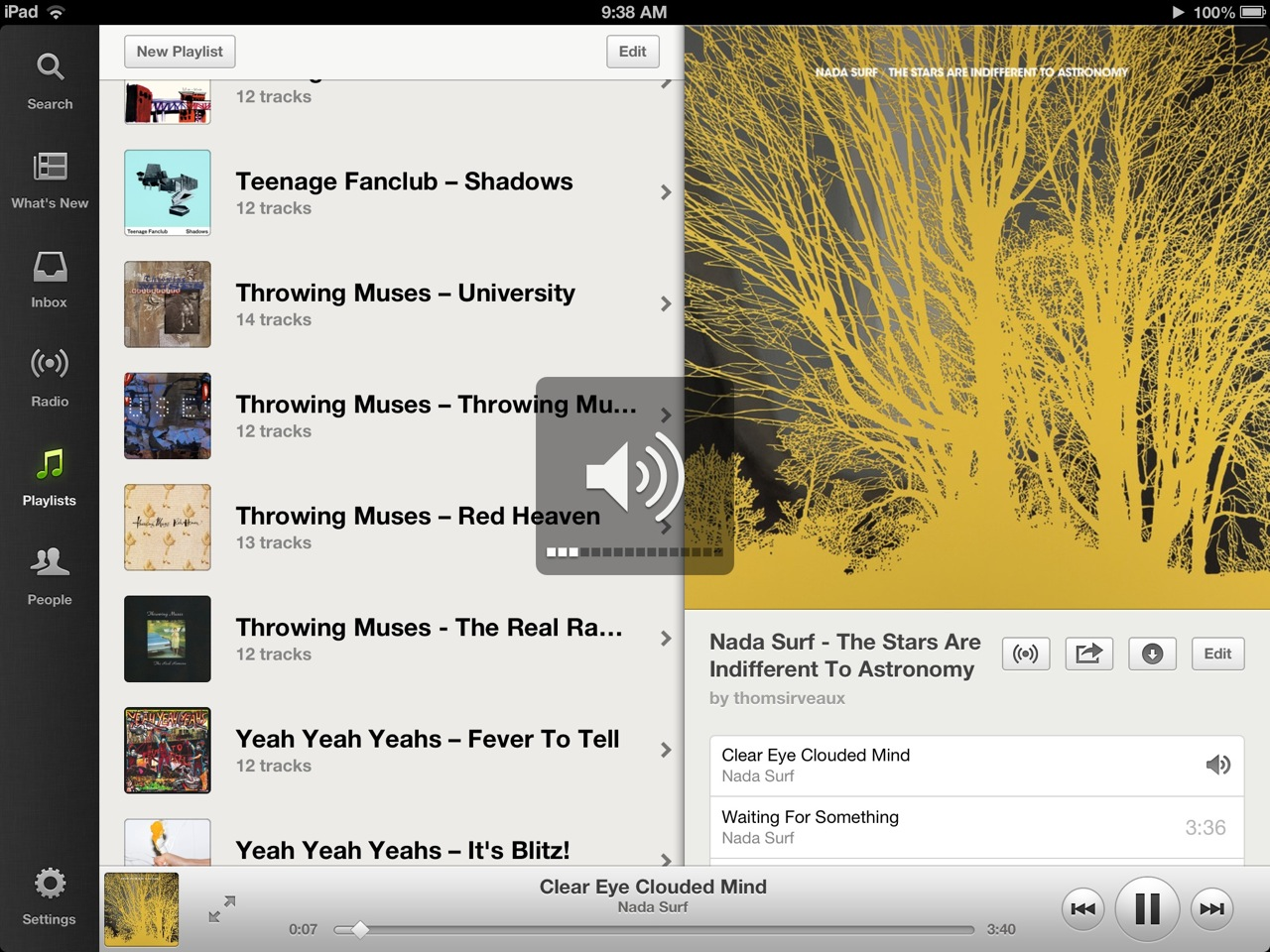 Spotify for iOS is more pleasing both functionally and visually.