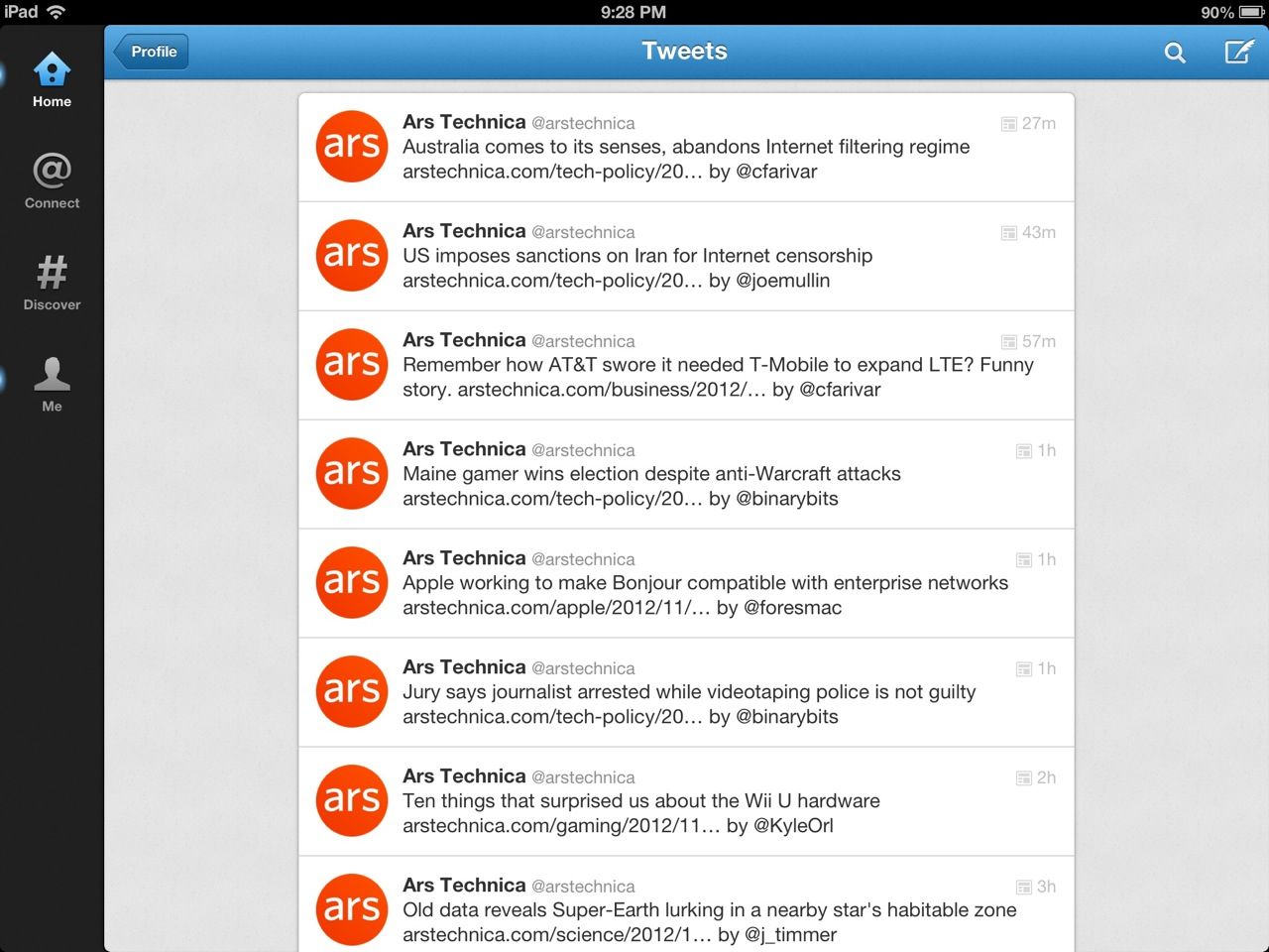 Twitter for iOS is better, but not by much.