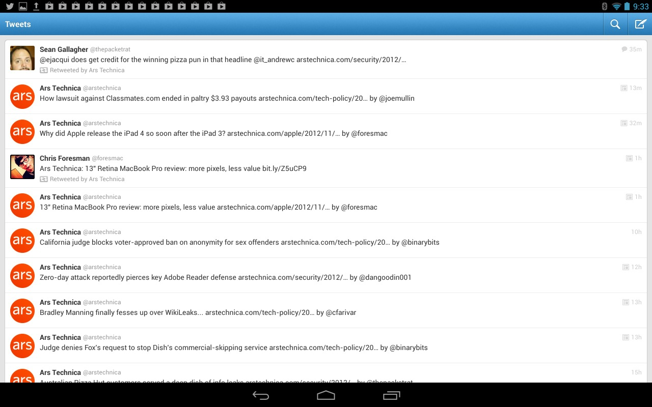 I'll stop trotting Twitter out as an example when the Twitter for Android app stops sucking so much on tablets.