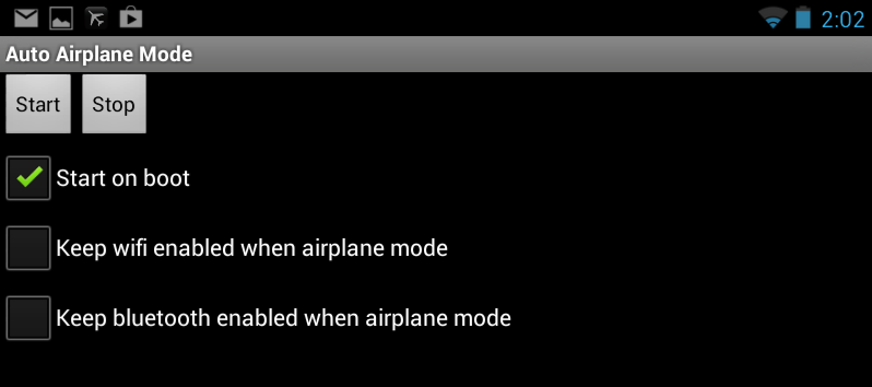 Auto Airplane Mode for Android.