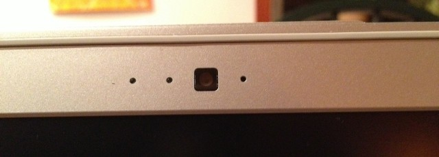 The Chromebook's VGA webcam.