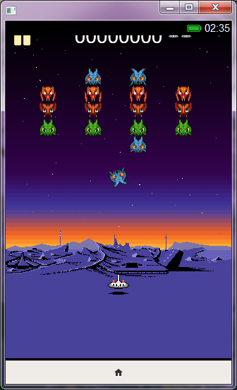 This neat little <em>Galaga</em>-type game is already available to play in the Firefox OS simulator.